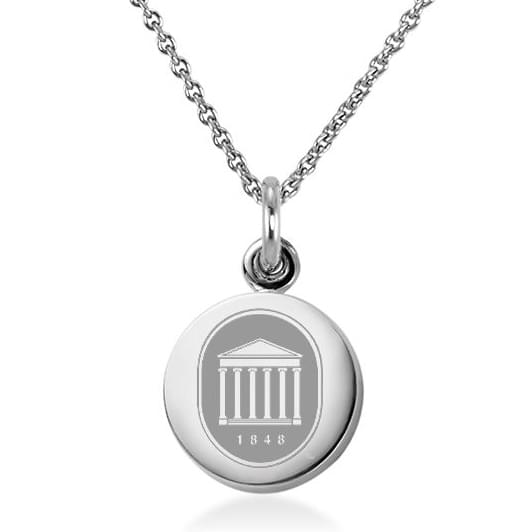 Ole Miss Sterling Silver Necklace with Silver Charm Image-1