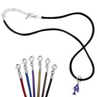 Delta Gamma Satin Necklace with Greek Letter Charm Image-1 Thumbnail