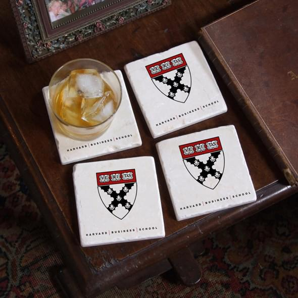 Harvard Business School Marble Coasters Image-2