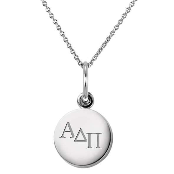 Alpha Delta Pi Sterling Silver Necklace with Sterling Silver Charm