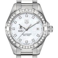 SMU Women's TAG Heuer Steel Aquaracer with MOP Diamond Dial & Diamond Bezel