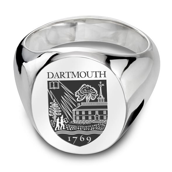 Dartmouth Sterling Silver Oval Signet Ring At M Lahart Amp Co