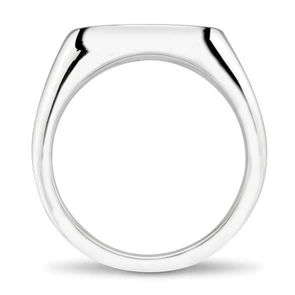 Dartmouth Sterling Silver Oval Signet Ring