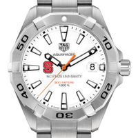 NC State Men's TAG Heuer Steel Aquaracer