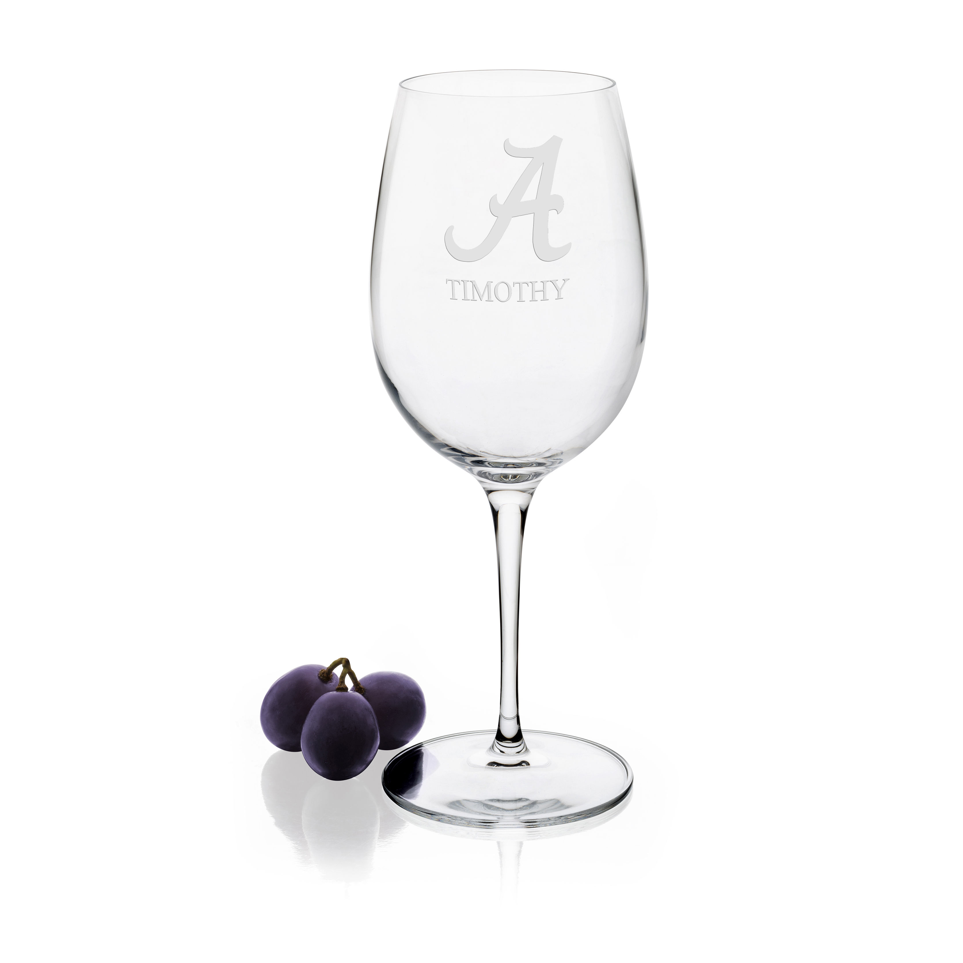 Alabama Red Wine Glasses - Set of 2