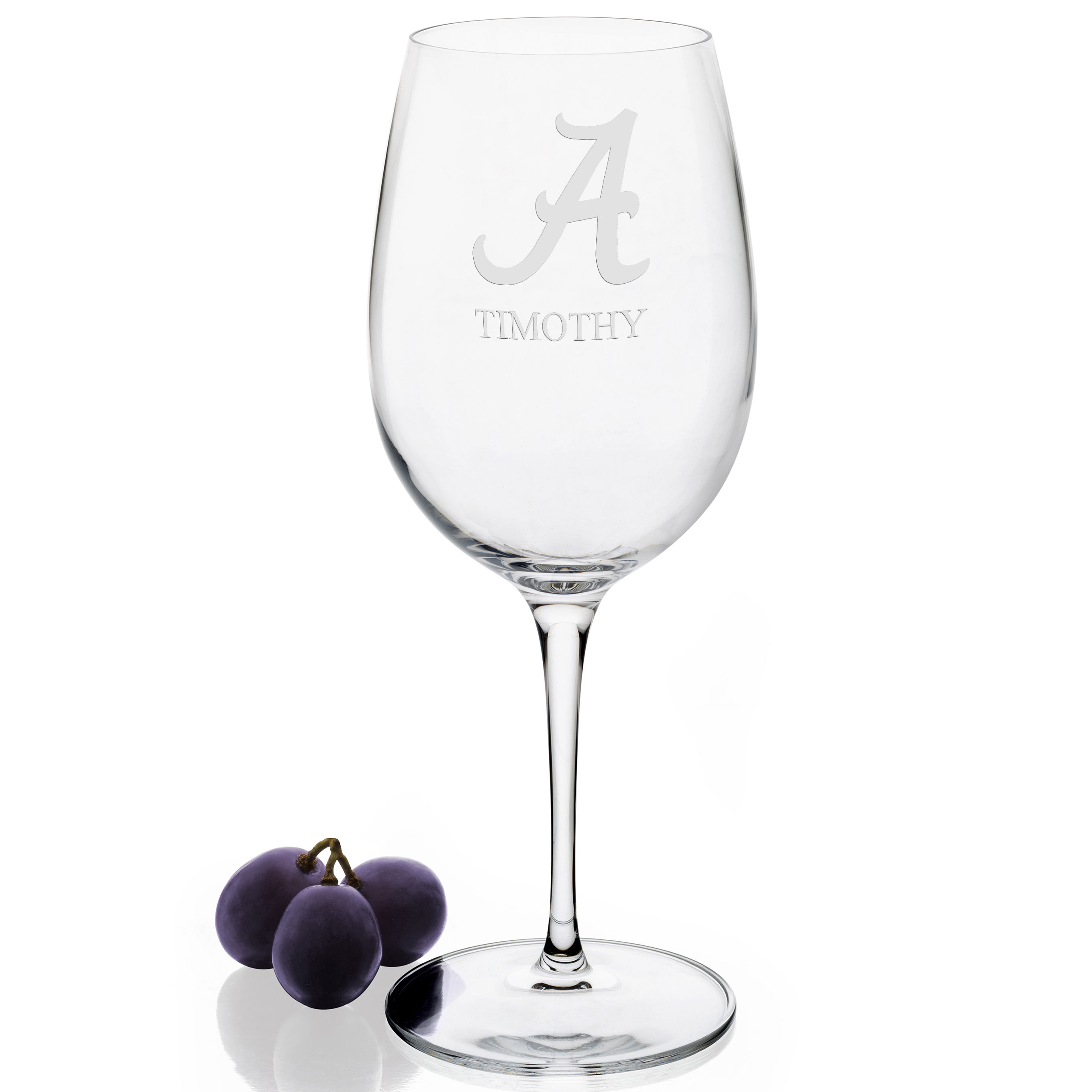 Alabama Red Wine Glasses - Set of 2